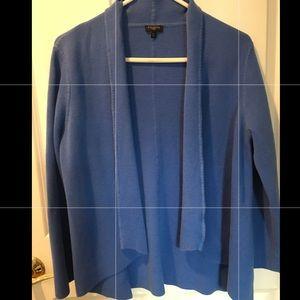 Talbots Cotton Rayon Blend Sweater - blue Size LP